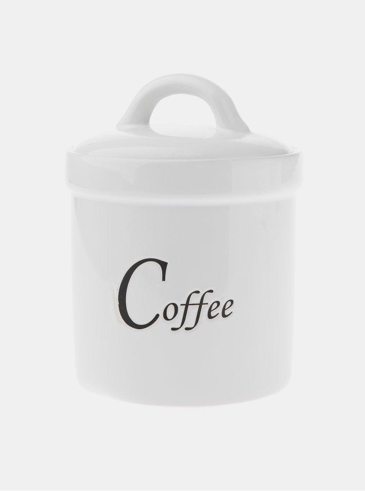 Bílá dóza na kávu Dakls