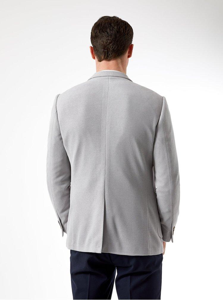 Světle šedé sako Burton Menswear London Pique