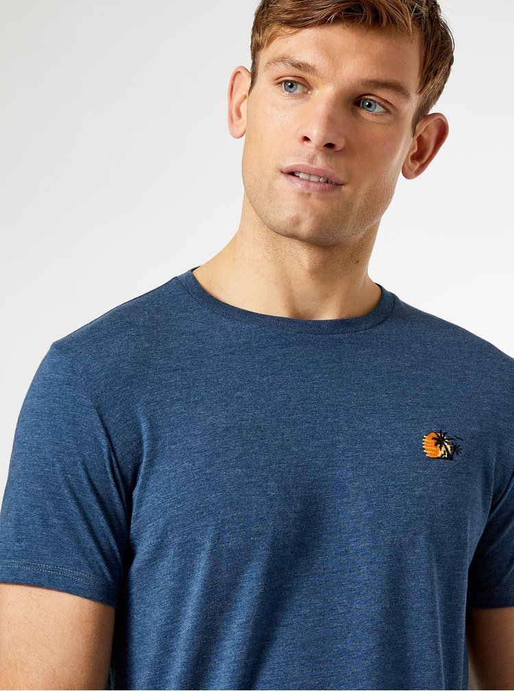 Modré tričko Burton Menswear London Sunset