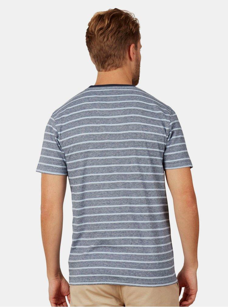 Modré pruhované tričko Raging Bull