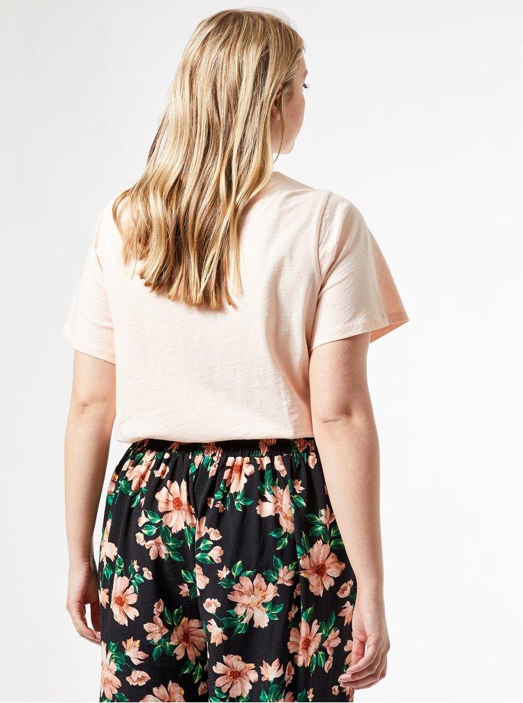 Růžové tričko Dorothy Perkins Curve