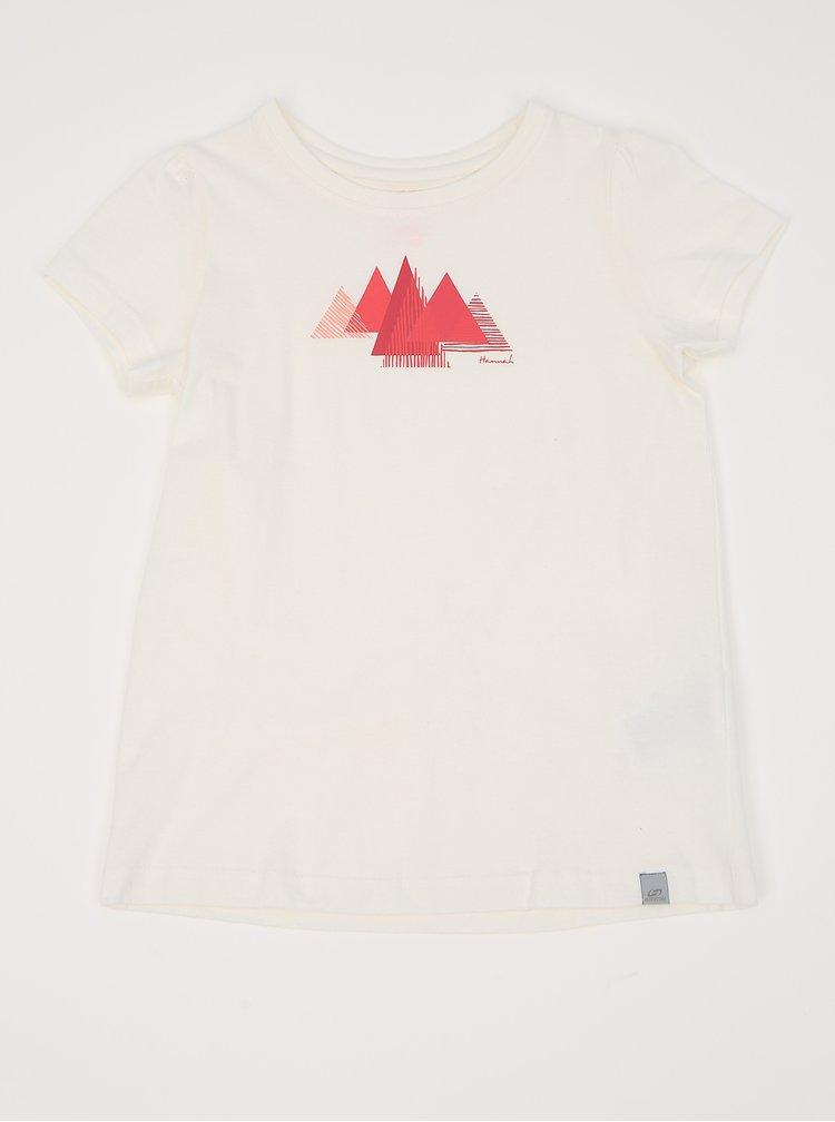 Bílé holčičí tričko s potiskem Hannah Pontela