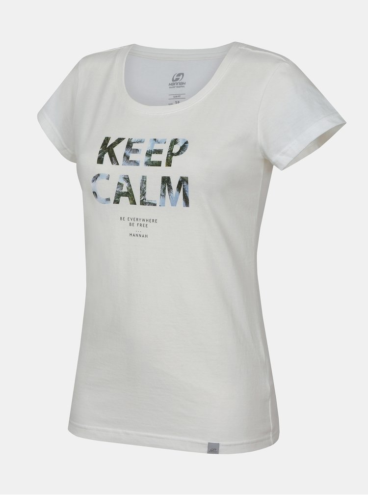 Bílé dámské tričko s potiskem Hannah Talimana