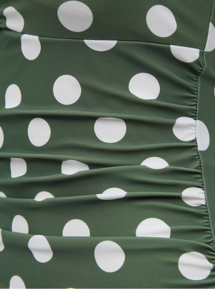Zelený puntíkovaný horní díl plavek Dorothy Perkins
