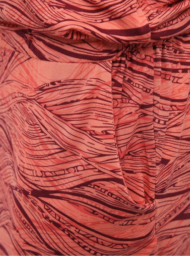 Korálové vzorované šaty Hannah Zanziba