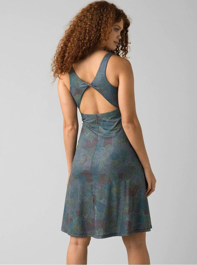 Šedé vzorované šaty prAna Skypath