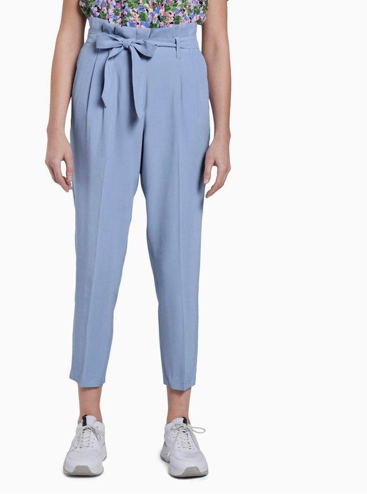 Pantaloni chino pentru femei Tom Tailor - albastru deschis