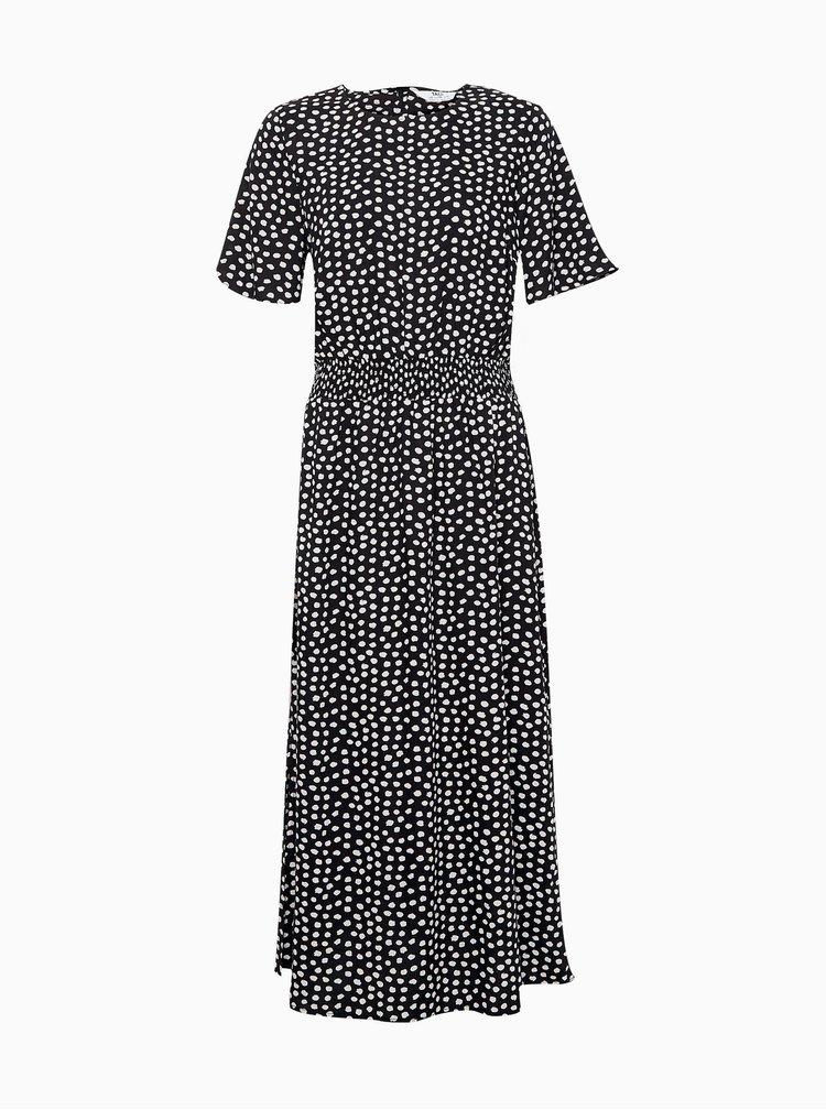 Černé vzorované midišaty Dorothy Perkins Tall