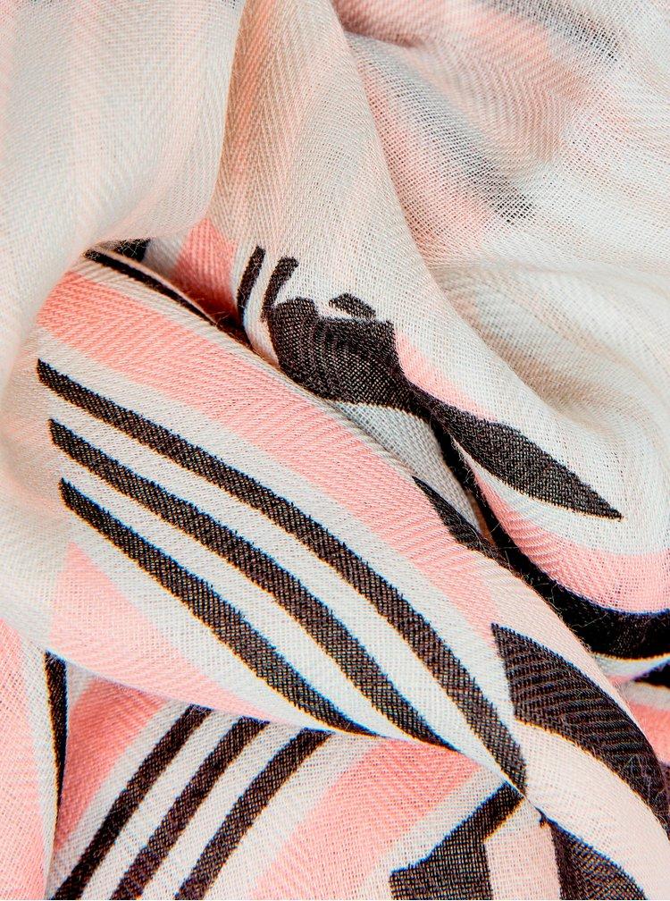 Krémový vzorovaný šátek Dorothy Perkins