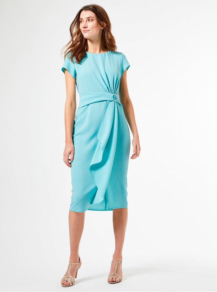 Tyrkysové pouzdrové šaty Dorothy Perkins