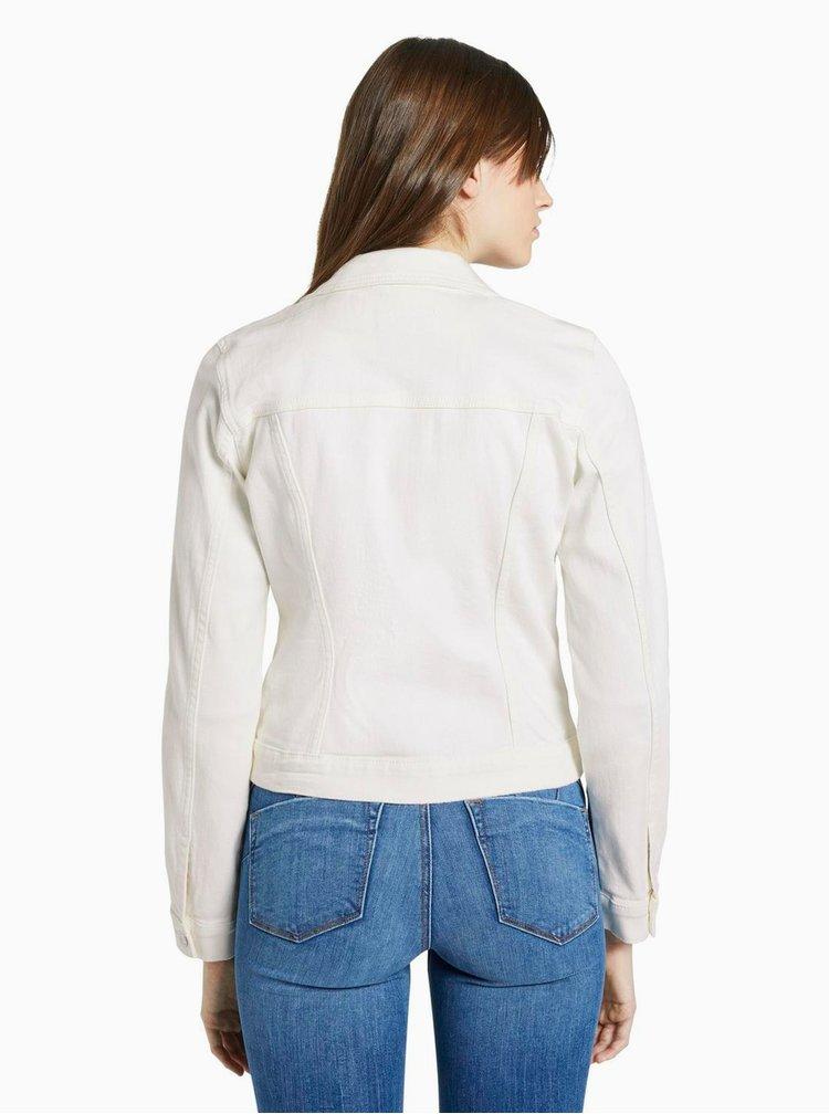 Bílá dámská džínová bunda Tom Tailor Denim