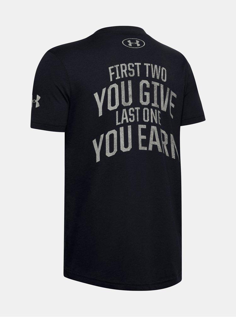 Černé klučičí tričko Rock Under Armour