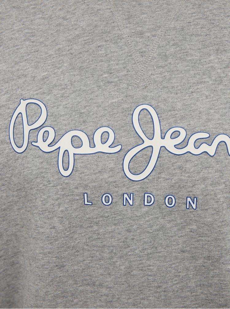 Šedá pánská mikina s potiskem Pepe Jeans George