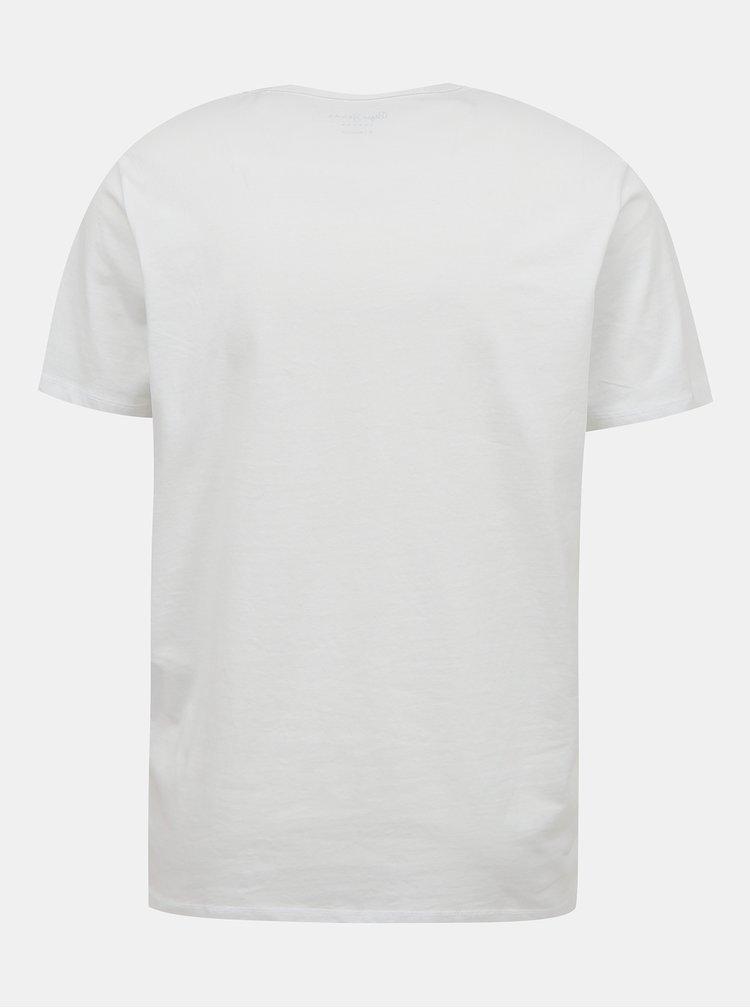 Bílé pánské tričko s potiskem Pepe Jeans Micah