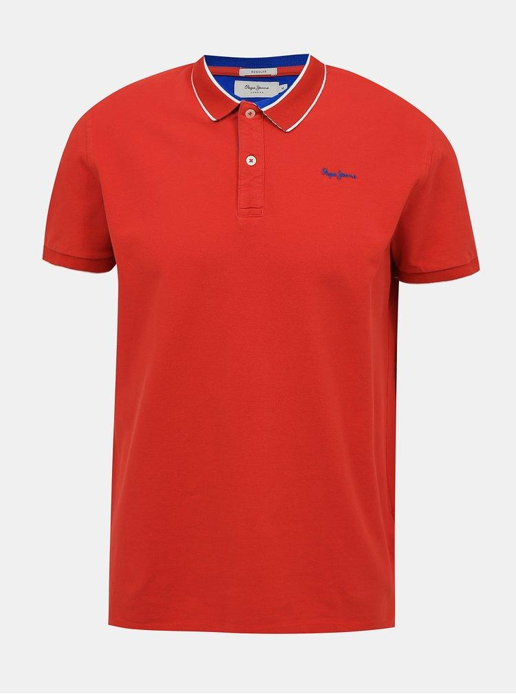 Tricouri polo pentru barbati Pepe Jeans - rosu