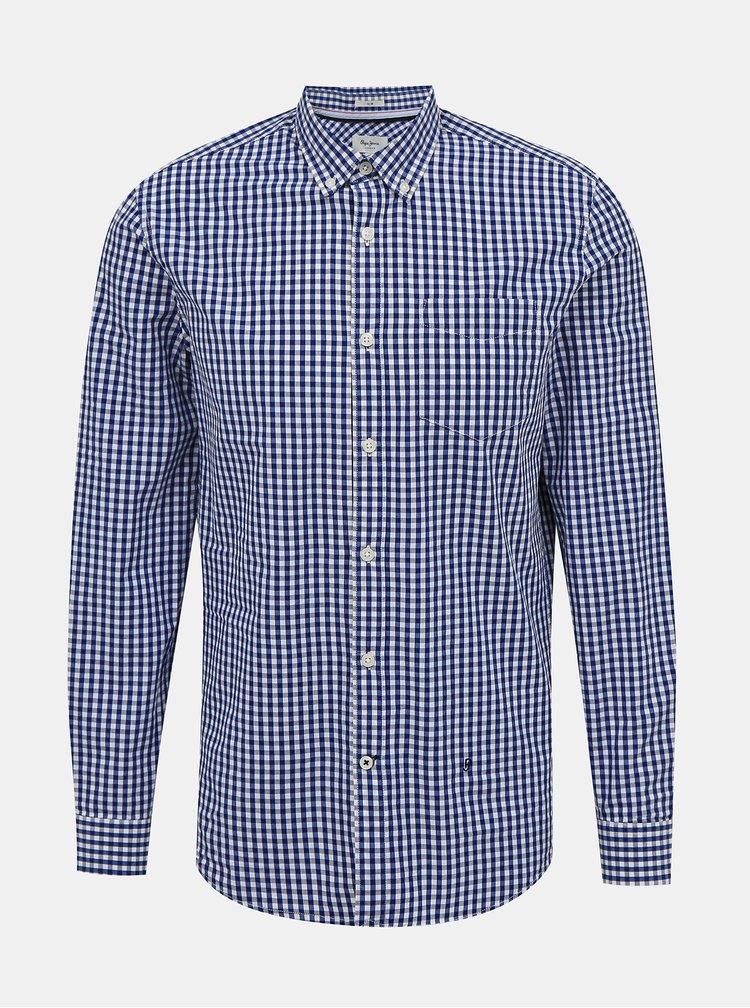 Modrá pánská kostkovaná košile Pepe Jeans Arnol