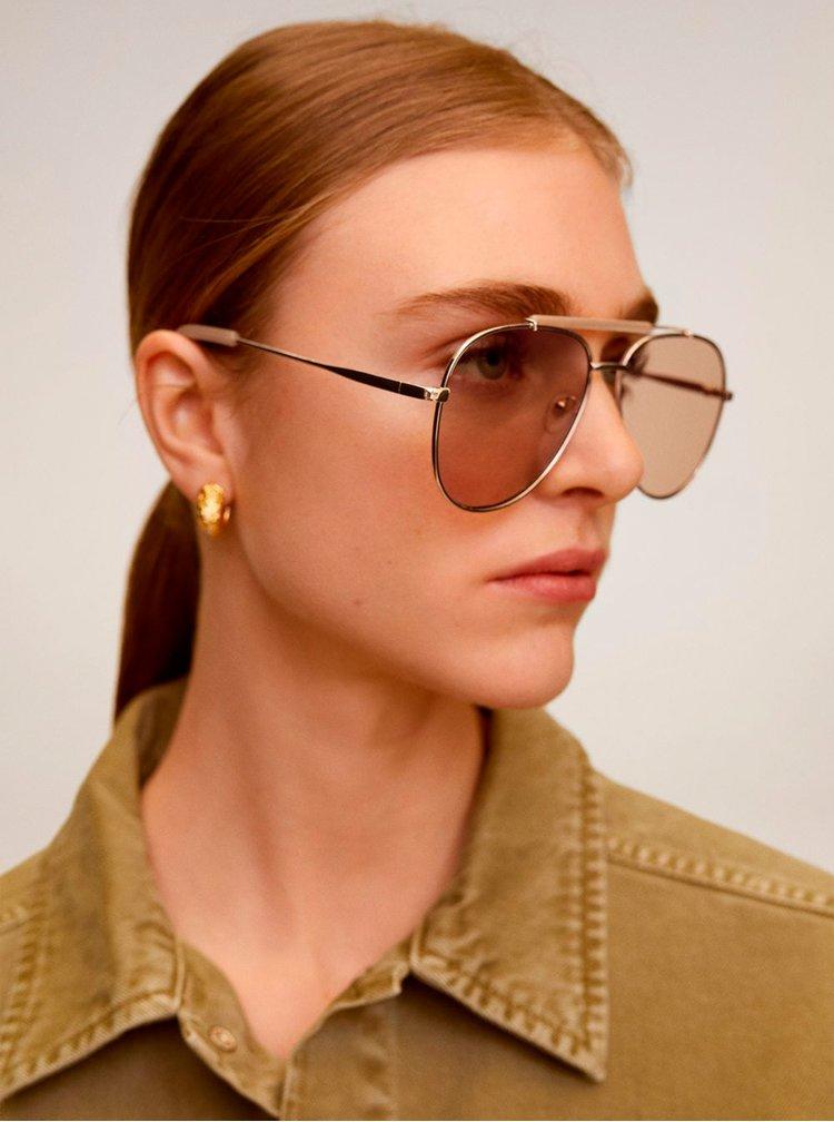 Béžové sluneční brýle Mango Maddy