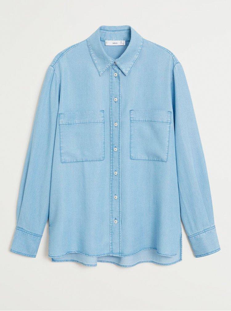 Modrá džínová košile Mango Classic