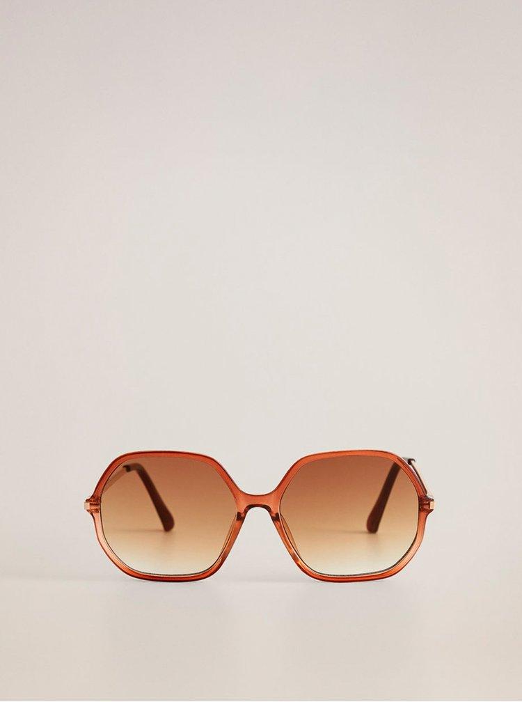 Hnědé sluneční brýle Mango Andrea