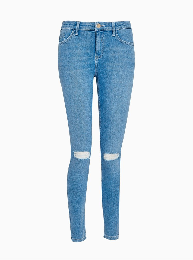 Modré skinny fit rifle Dorothy Perkins