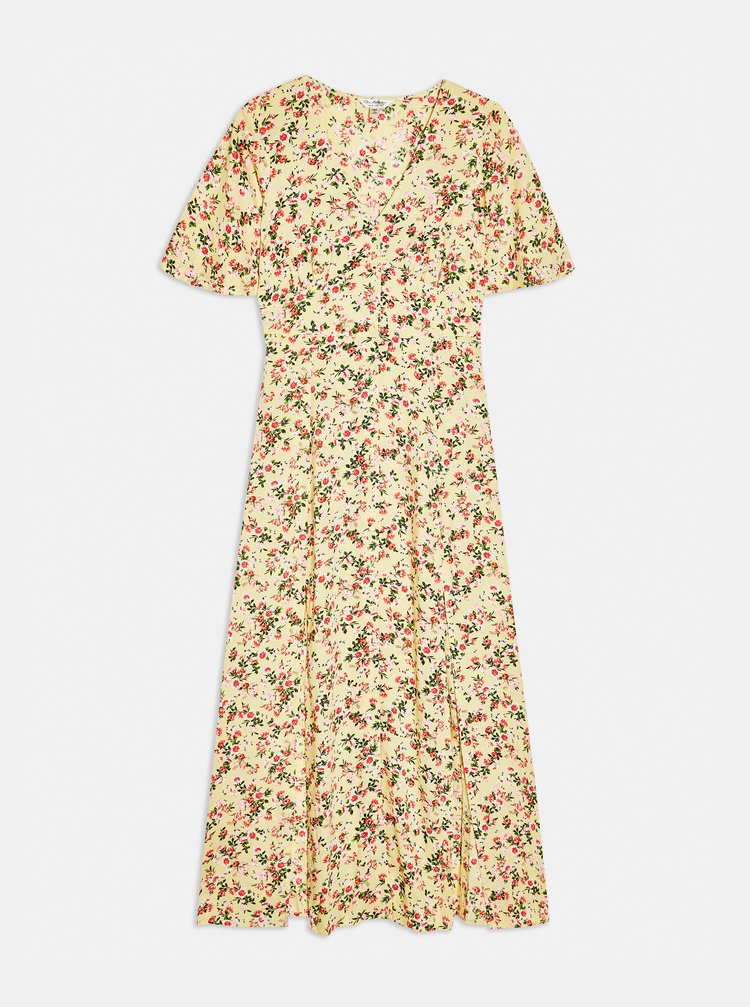Krémové květované maxišaty Miss Selfridge