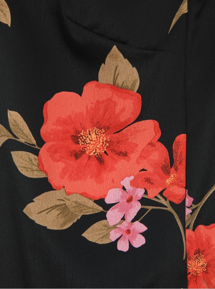 Čierny kvetovaný top Dorothy Perkins