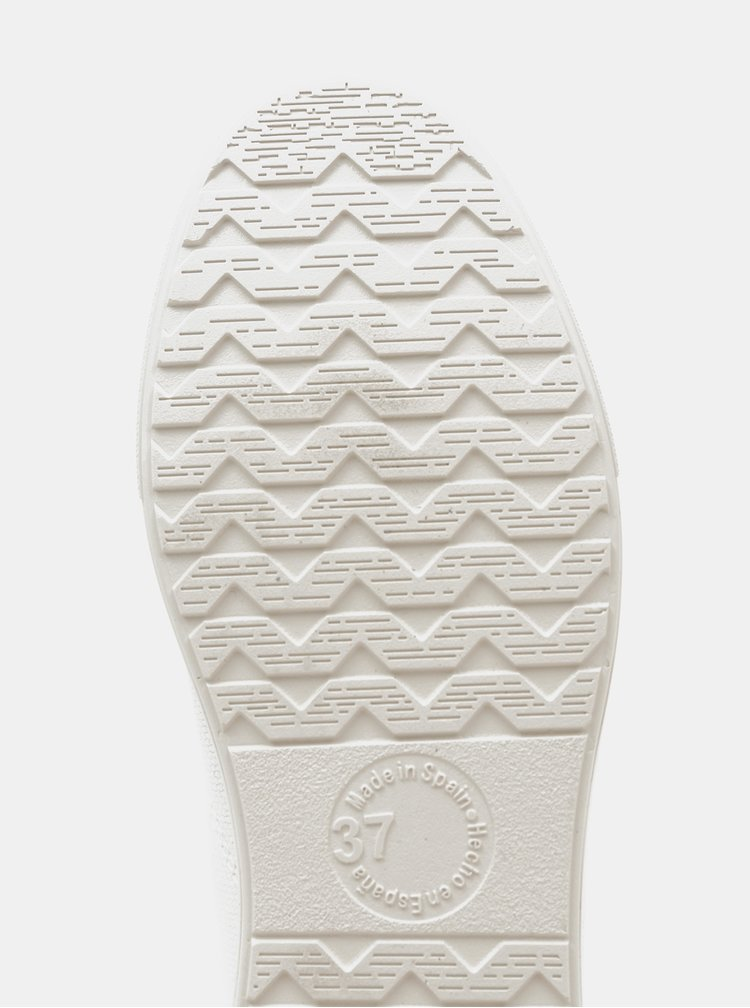 Bílé dámské tenisky na platformě OJJU