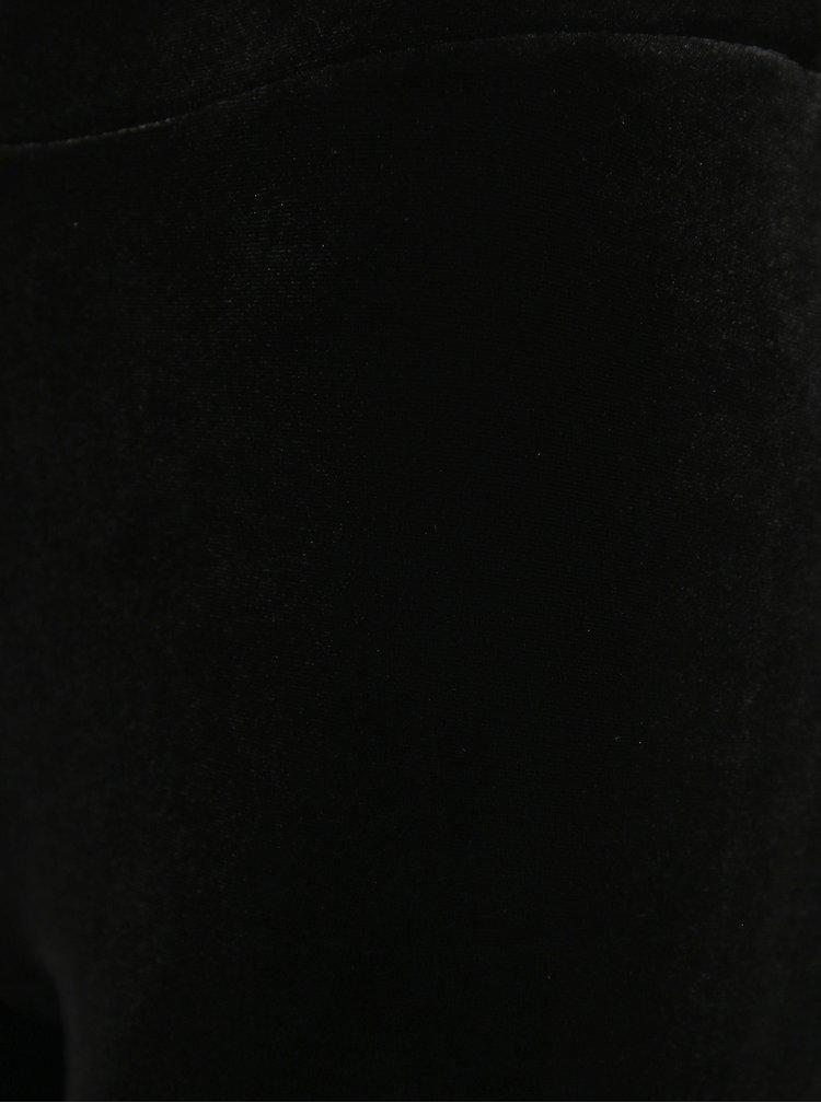 Černé sametové legíny Marie Claire