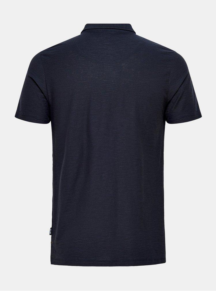 Tmavě modré polo tričko ONLY & SONS Ilkas