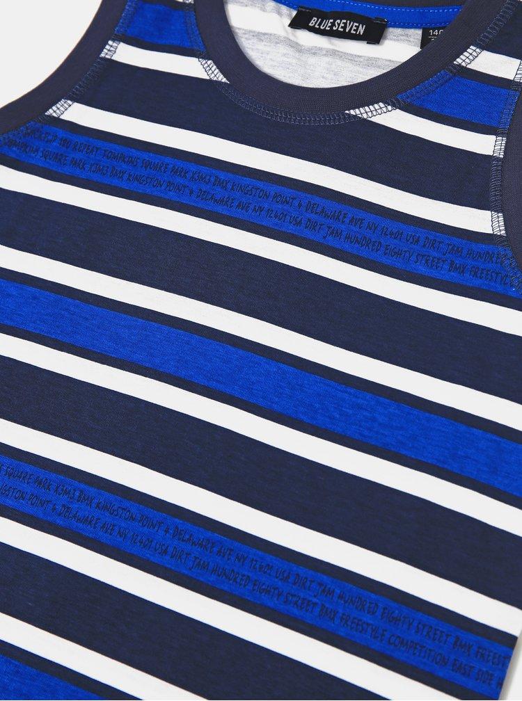 Modré klučičí pruhované tílko Blue Seven