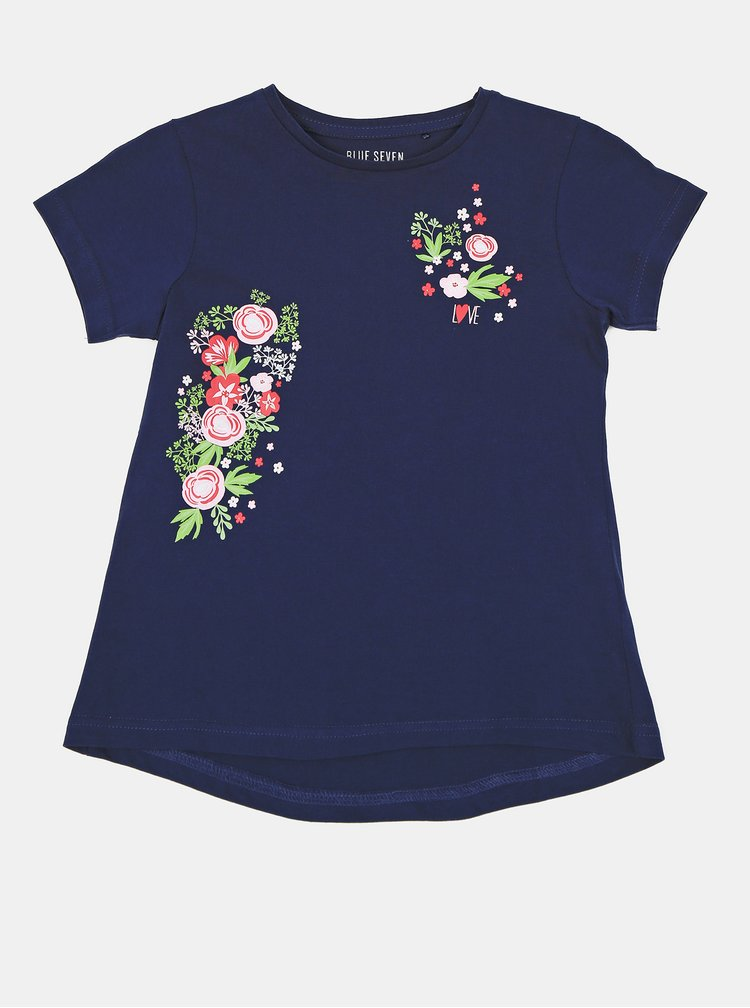 Tmavomodré dievčenské tričko Blue Seven
