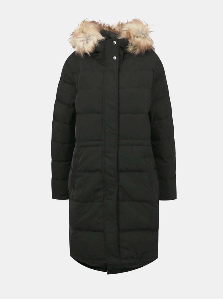 Černý zimní prošívaný kabát VILA California