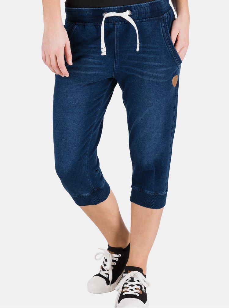 Tmavě modré dámské 3/4 kalhoty SAM 73