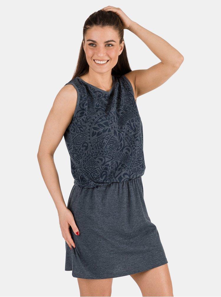 Tmavě modré vzorované šaty SAM 73