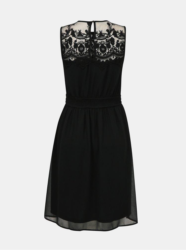Čierne šaty s krajkou VERO MODA