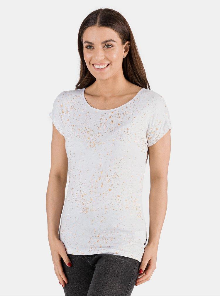 Bílé dámské vzorované tričko SAM 73