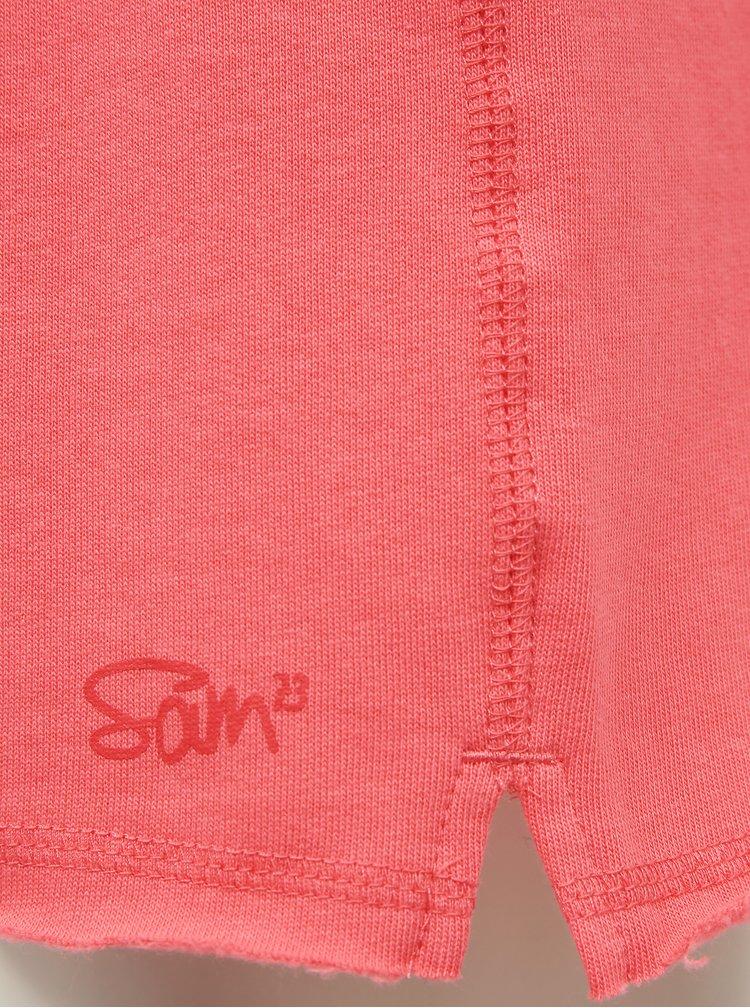 Růžové dámské teplákové kraťasy SAM 73