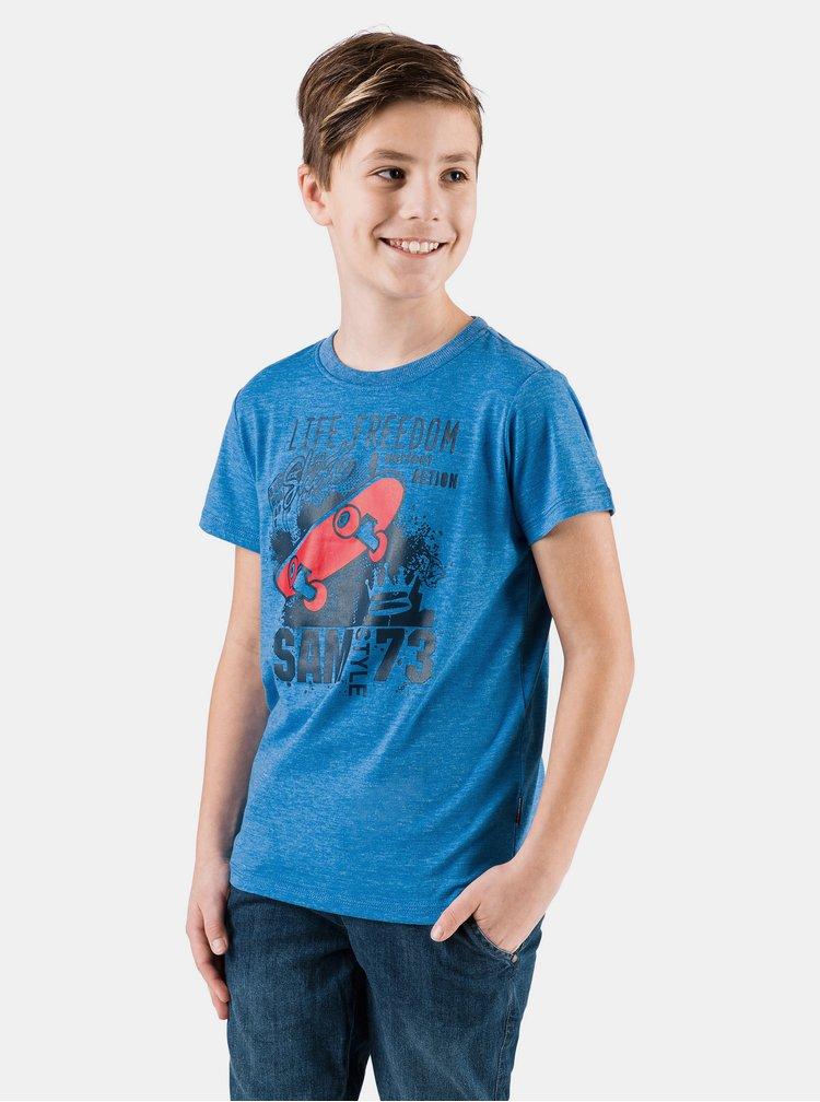 Modré klučičí tričko s potiskem SAM 73