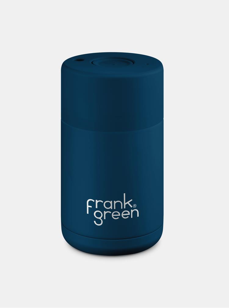 Tmavomodrý nerezový cestovný hrnček Frank Green Ceramic 295 ml