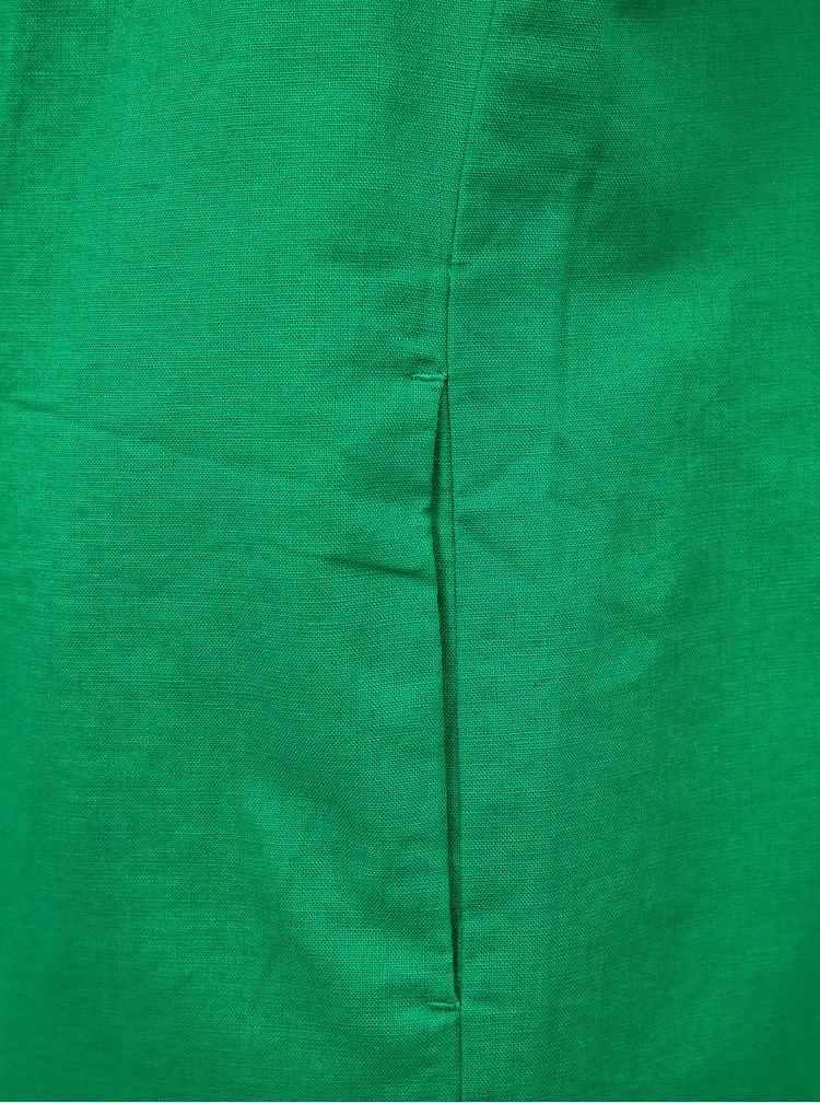 Zelené lněné šaty ZOOT Eleonora