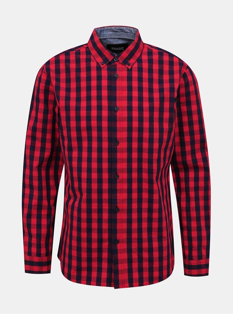 Červená pánská kostkovaná košile ZOOT Aiden