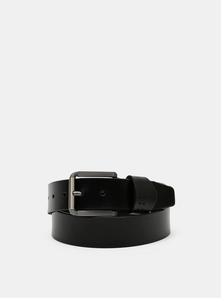 Černý kožený pásek ONLY & SONS Carter