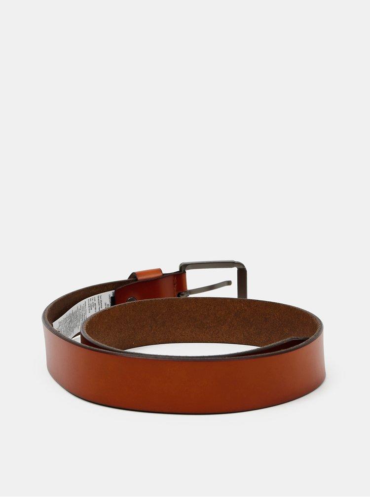 Hnědý kožený pásek ONLY & SONS Carter