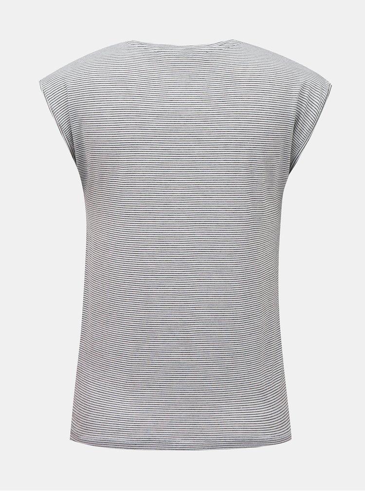 Světle šedé pruhované tričko VERO MODA