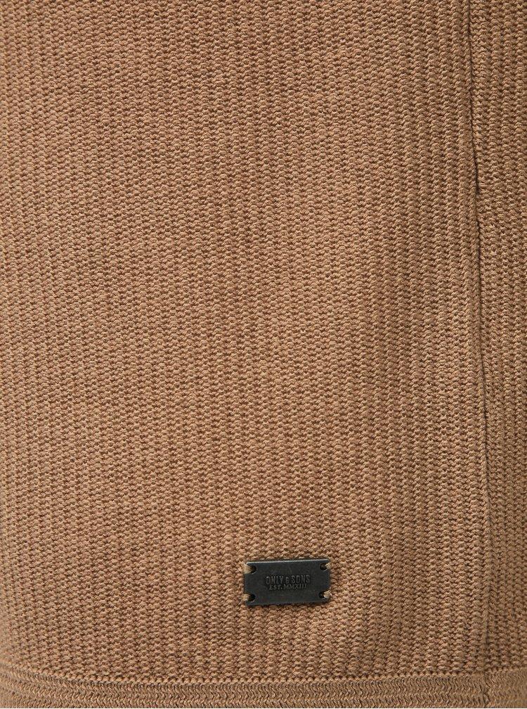 Béžový svetr ONLY & SONS Dalton