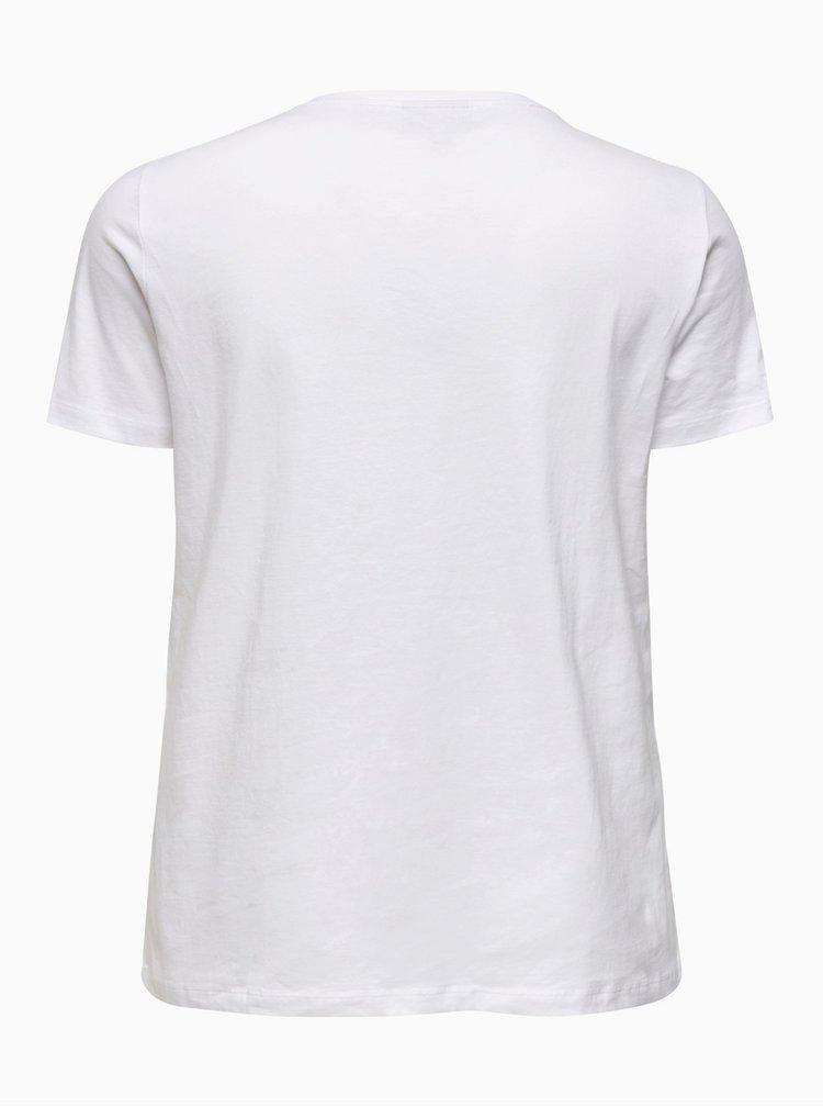 Bílé tričko ONLY CARMAKOMA Smoking