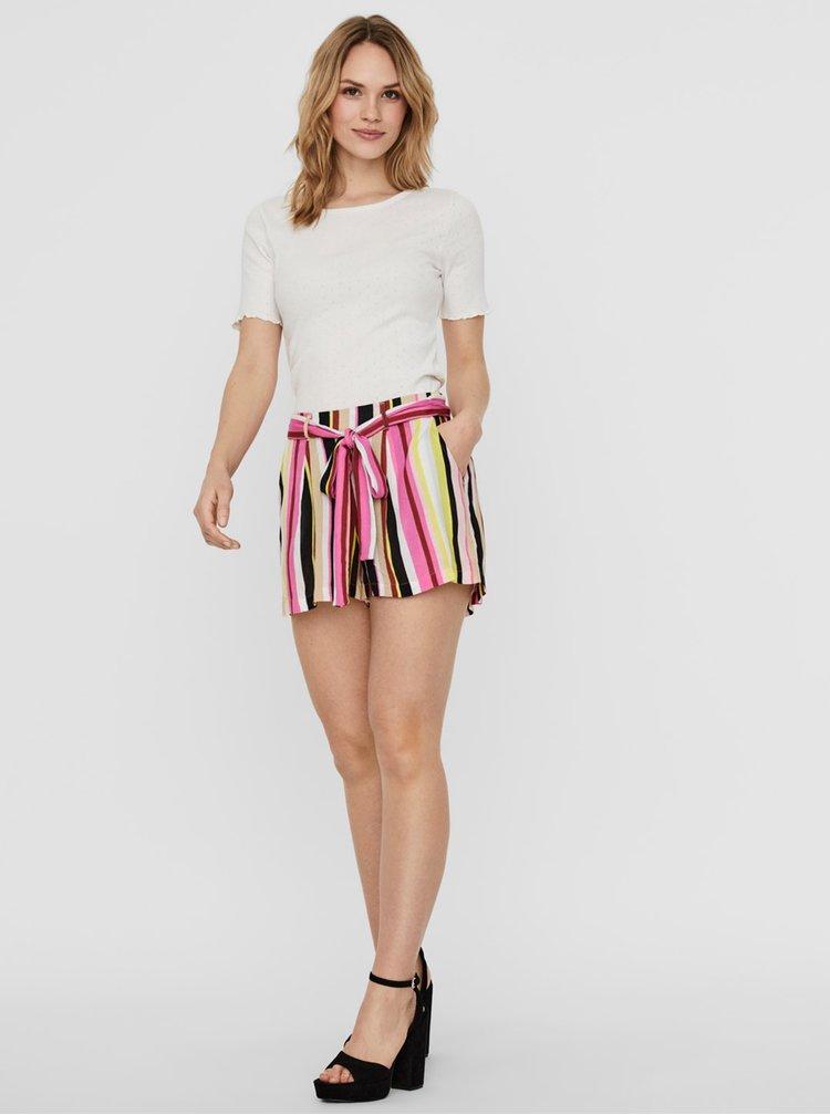 Pantaloni scurti  pentru femei Noisy May - roz, galben