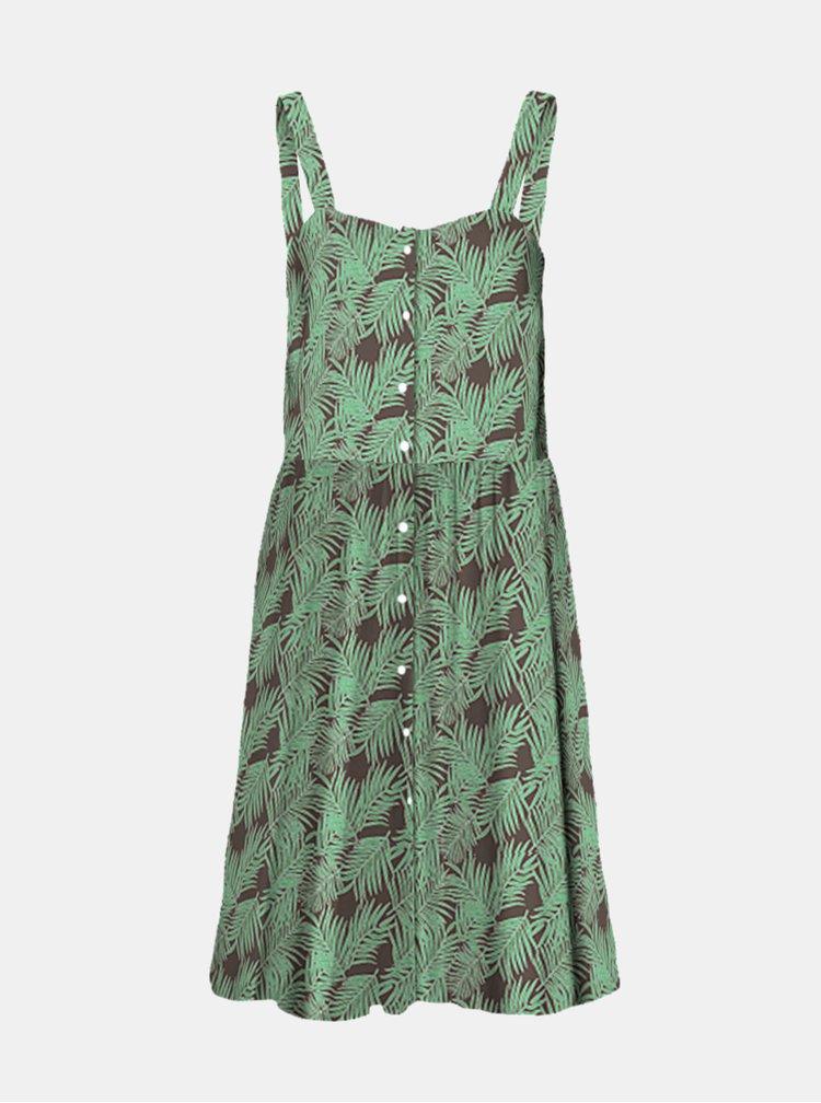 Zelené květované šaty Noisy May
