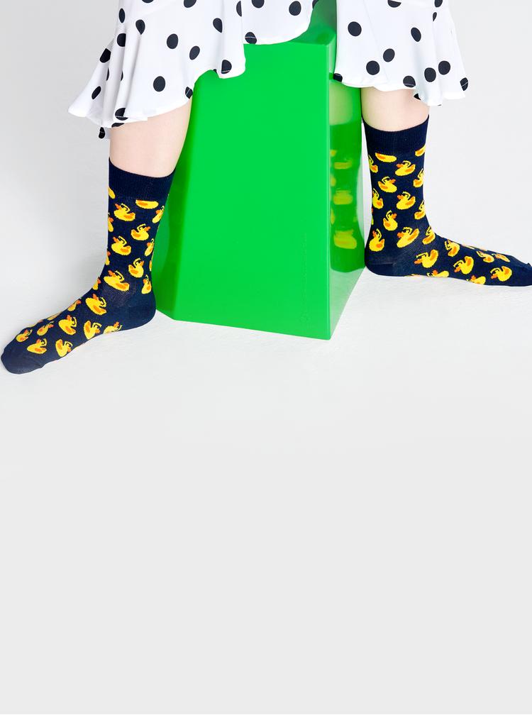 Tmavě modré vzorované ponožky Happy Socks Rubber Duck