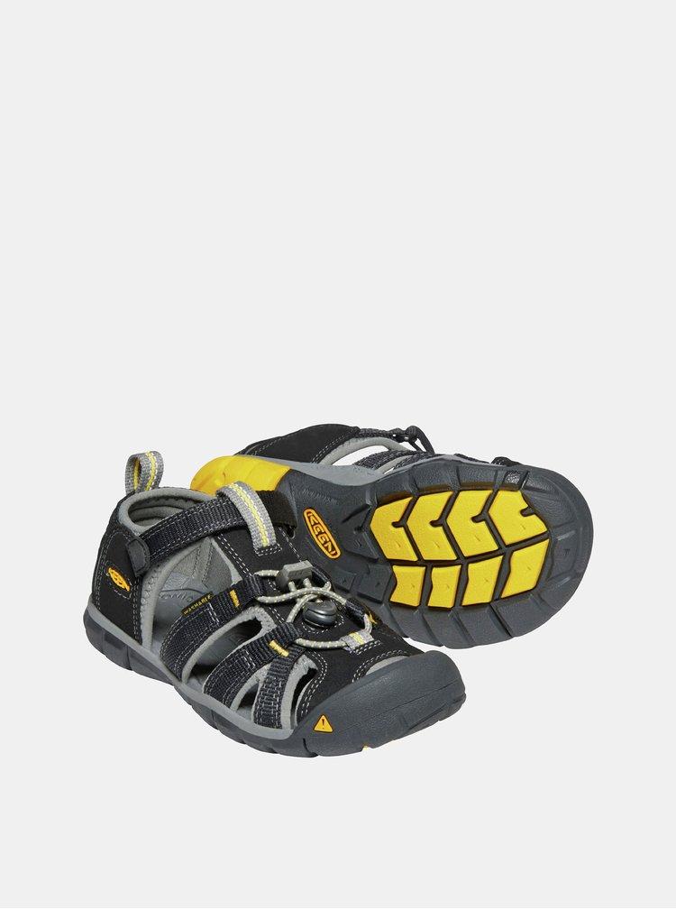 Čierne detské sandále Keen Seacamp II CNX Jr
